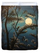 Moonlit Trees Duvet Cover