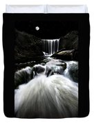 Moonlit Waterfall Duvet Cover