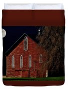 Moonlite 1900 Barn Duvet Cover by Stephanie Calhoun