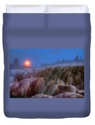 Moonrise At Mammoth Duvet Cover