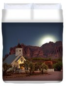 Moonrise At Superstition Mountain Duvet Cover
