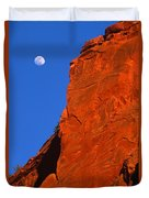 Moonrise In Grand Staircase Escalante Duvet Cover