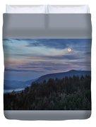 Moonrise Over Crown Point Duvet Cover