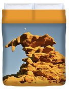 Moonrise Over Fantasy Canyon Hoodoo Duvet Cover