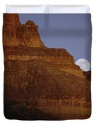 Moonrise Over The Grand Canyon Duvet Cover