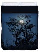 Moonrise Over Wetlands Duvet Cover