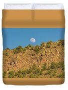 Moonrise Rio Grande Gorge Pilar New Mexico Duvet Cover