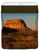 Moonset At Fajada Butte Duvet Cover