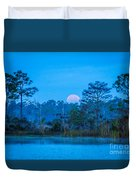 Moonset At The Hungryland Duvet Cover