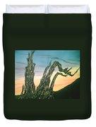 Moonset-bristlecone Pine Duvet Cover
