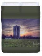 Moor Tower Sunset Duvet Cover
