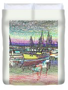 Moorage Duvet Cover
