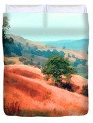 Moorland Hillside  Duvet Cover