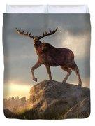 Moose At Dawn Duvet Cover