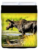 Moose At Jackson Hole Duvet Cover