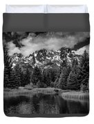 Moose At Schwabacher's Landing Duvet Cover by Gary Lengyel