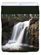 Moose Falls Yellowstone National Park Duvet Cover