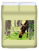 Moose Munching Duvet Cover