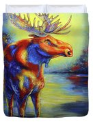 Moose Duvet Cover by Patricia Lintner