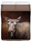 Moose Portrait Duvet Cover