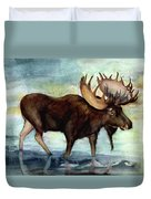Moose Reflections Duvet Cover