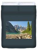 Moraine Lake - Canadian Rockies Duvet Cover
