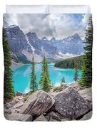 Moraine Lake Afternoon II Duvet Cover