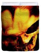 Morbid Decaying Skull Duvet Cover