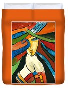 Morden Art Girl Duvet Cover
