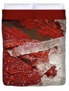 More Fallen Ice Duvet Cover