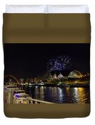 More Fireworks At Newcastle Quayside On New Year's Eve Duvet Cover