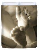 More Little Feet Duvet Cover