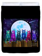 More Moonlight Meowing Duvet Cover