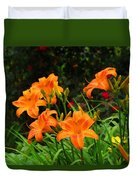 More Orange Daylilies Duvet Cover