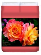 More Roses For Anne Catus 1 No. 1 H A Duvet Cover