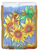 More Sunflowers Duvet Cover by Loretta Nash