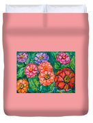 More Zinnias Duvet Cover