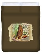 Morel Mushroom - Green Lane Pa Duvet Cover