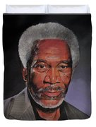Morgan Freeman Portrait Duvet Cover