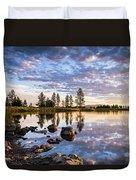 Morgan Lake Sunrise Duvet Cover