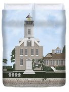 Morgan Point Mystic Harbor Conn Duvet Cover