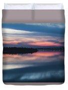 Morii Lake At Sunset Duvet Cover