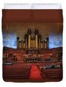 Mormon Meeting Hall Duvet Cover