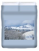 Mormon Tabernacle In Snow II Duvet Cover