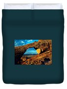 Morning At Landscape Arch Duvet Cover