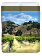 Morning At Mosby Vineyards Duvet Cover