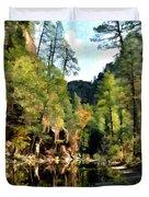 Morning At Oak Creek Arizona Duvet Cover
