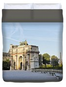 Morning At The Arc De Triomphe Du Carrousel  Duvet Cover