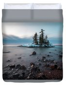 Morning At The Tombolo Duvet Cover