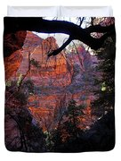 Morning At Zion National Park Duvet Cover